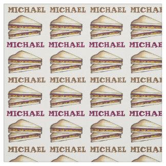 Tecido personalizado do sanduíche da manteiga de