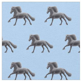 Tecido preto do cavalo do frisão