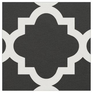 Tecido preto do teste padrão   de Quatrefoil