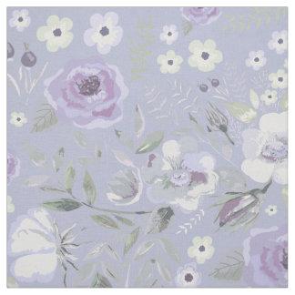 Tecido Rosehips da aguarela e violeta floral ID460 dos