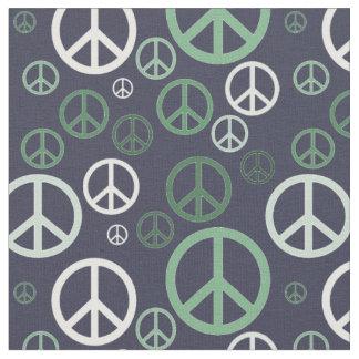 Tecido Sinais de paz dispersados SPST verde
