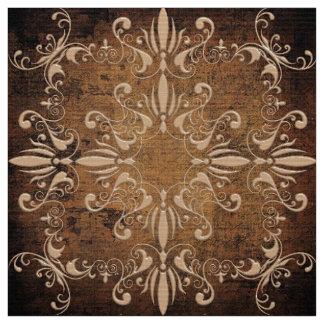 Tecido teste padrão barroco floral no fundo do grunge
