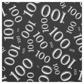Tecido Teste padrão branco e preto da tipografia do