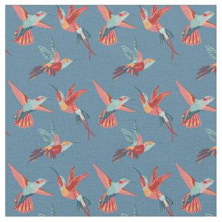 Tecido Teste padrão retro do colibri