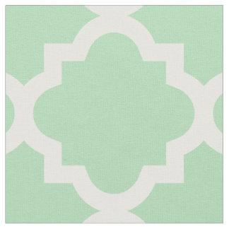 Tecido verde do teste padrão   de Quatrefoil da
