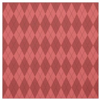 Tecido vermelho do teste padrão de Argyle