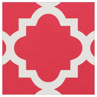 Tecido vermelho do teste padrão   de Quatrefoil