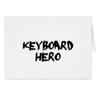 teclado cartão comemorativo
