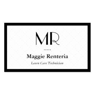 Técnico do cuidado do gramado - monograma à moda cartoes de visitas