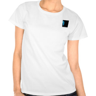 Tecnologia abstrata moderna do azul olá! tshirt