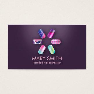 Tecnologia do prego/modelo de cartão de negócios cartão de visita