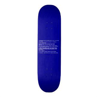 Tela azul da morte shape de skate 18,4cm