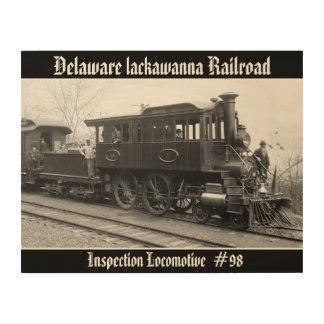 Tela De Madeira DL+ Locomotiva da inspeção do vapor de W