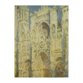 Tela De Madeira Luz solar ocidental da fachada da catedral de