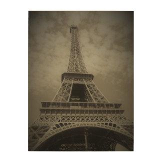 Tela De Madeira Torre Eiffel preto e branco em canvas