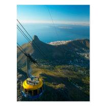 Teleférico da montanha da mesa, Cape Town Cartão Postal