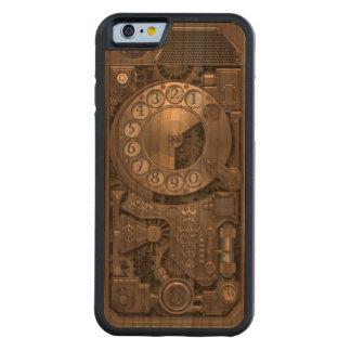 Telefone de seletor giratório do metal de capa de cerejeira bumper para iPhone 6