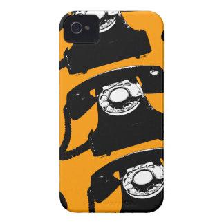 telefone preto retro capas para iPhone 4 Case-Mate