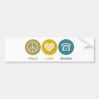 Telefones do amor da paz adesivo para carro