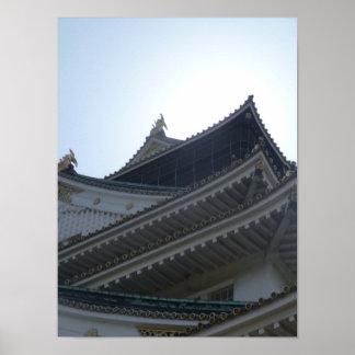 Telhado do castelo de Osaka Pôsteres