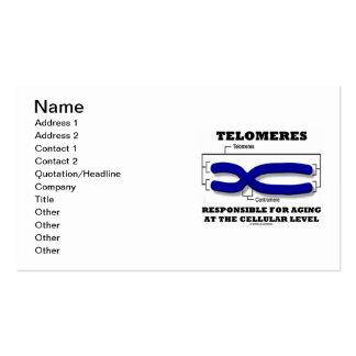 Telomeres responsável para envelhecer no celular cartão de visita