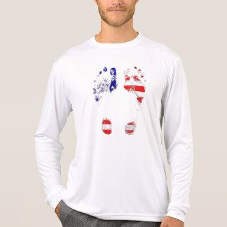 Tem uma alma americana - presentes da pegada dos camisetas
