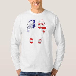 Tem uma alma americana - presentes da pegada dos t-shirt
