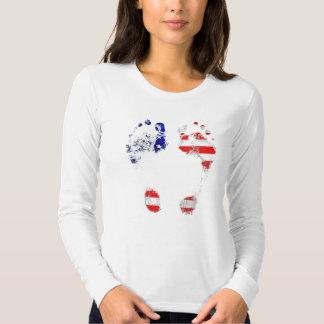 Tem uma alma americana - presentes da pegada dos tshirt