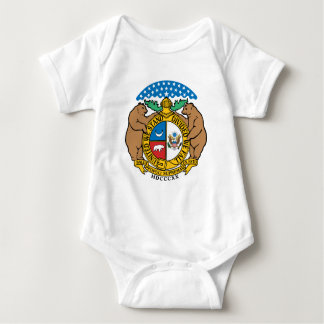 Tema 00 da bandeira de Missouri Body Para Bebê