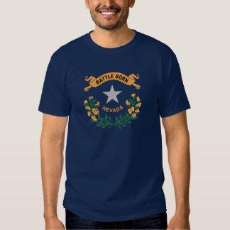 Tema 00 da bandeira de Nevada Camisetas