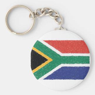 Tema da bandeira de África do Sul Chaveiro