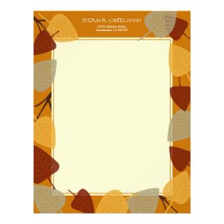 Tema dispersado moderno da acção de graças do outo papéis de carta personalizados