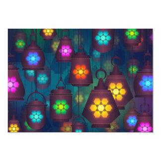 Tema do partido das lanternas das noites árabes convite 12.7 x 17.78cm