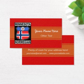 Temp americano norueguês do cartão de visita de