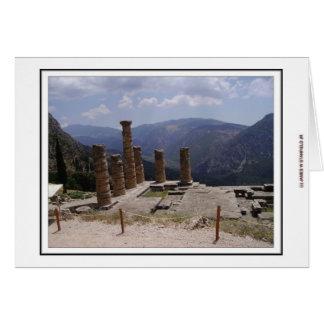 Templo de Apollo Cartão Comemorativo