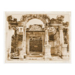 Templo de Hadrian na FOTOGRAFIA do VINTAGE de Ephe Cartao Postal