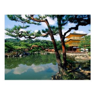 Templo de Kinkaku-ji, Kyoto, Japão Cartão Postal