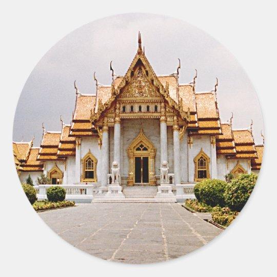 Templo de mármore do ouro sobre o Tag da etiqueta