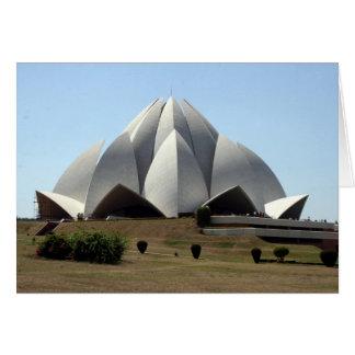 templo dos lótus do bahai cartão