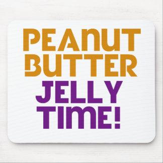 Tempo da geléia da manteiga de amendoim mouse pad