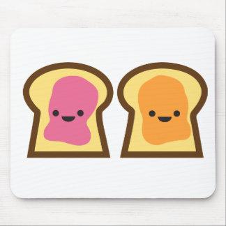 Tempo da geléia da manteiga de amendoim! mouse pad