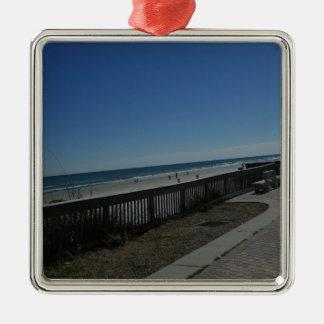 Tempo da praia ornamento de metal
