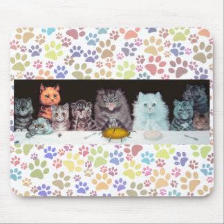 Tempo de comensal Mousepad dos gatos de Louis Wain