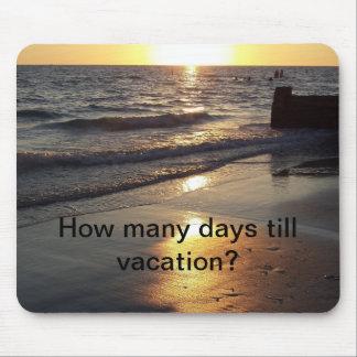 Tempo de férias mouse pad