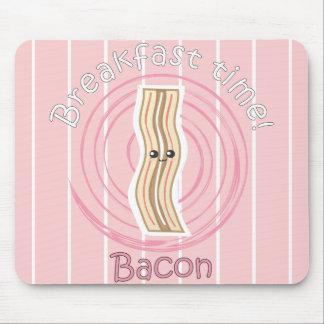 Tempo de pequeno almoço - bacon mouse pad