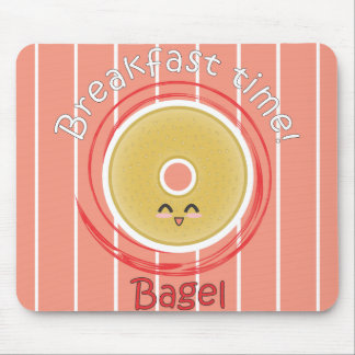 Tempo de pequeno almoço - Bagel Mouse Pad
