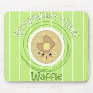 Tempo de pequeno almoço - Waffle Mouse Pad