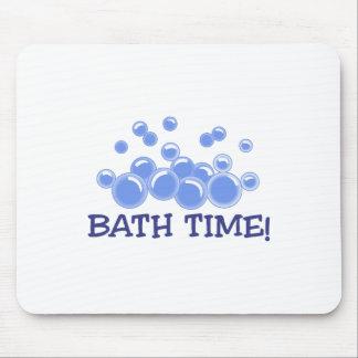 Tempo do banho mouse pad