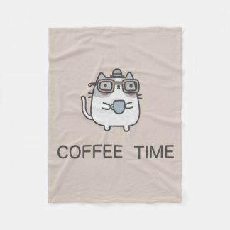 Tempo do café cobertor de velo