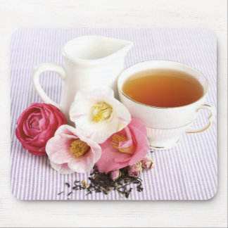 Tempo do chá mouse pad